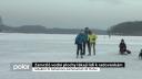 Zamrzlé vodní plochy lákají lidi k radovánkám